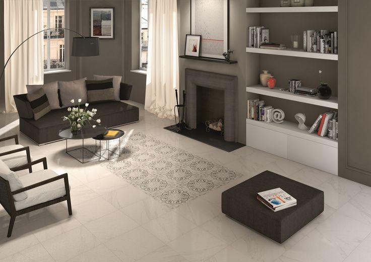 Pavimento/rivestimento in gres porcellanato smaltato effetto marmo MARBLELINE by MARAZZI #caiazzocentroceramiche #madeinitaly #ceramicsofItaly #napoli #prezzofelice