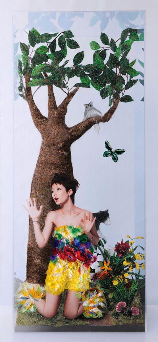 「4つの場所 木村カエラ」/ASAMI KIYOKAWA/清川あさみ