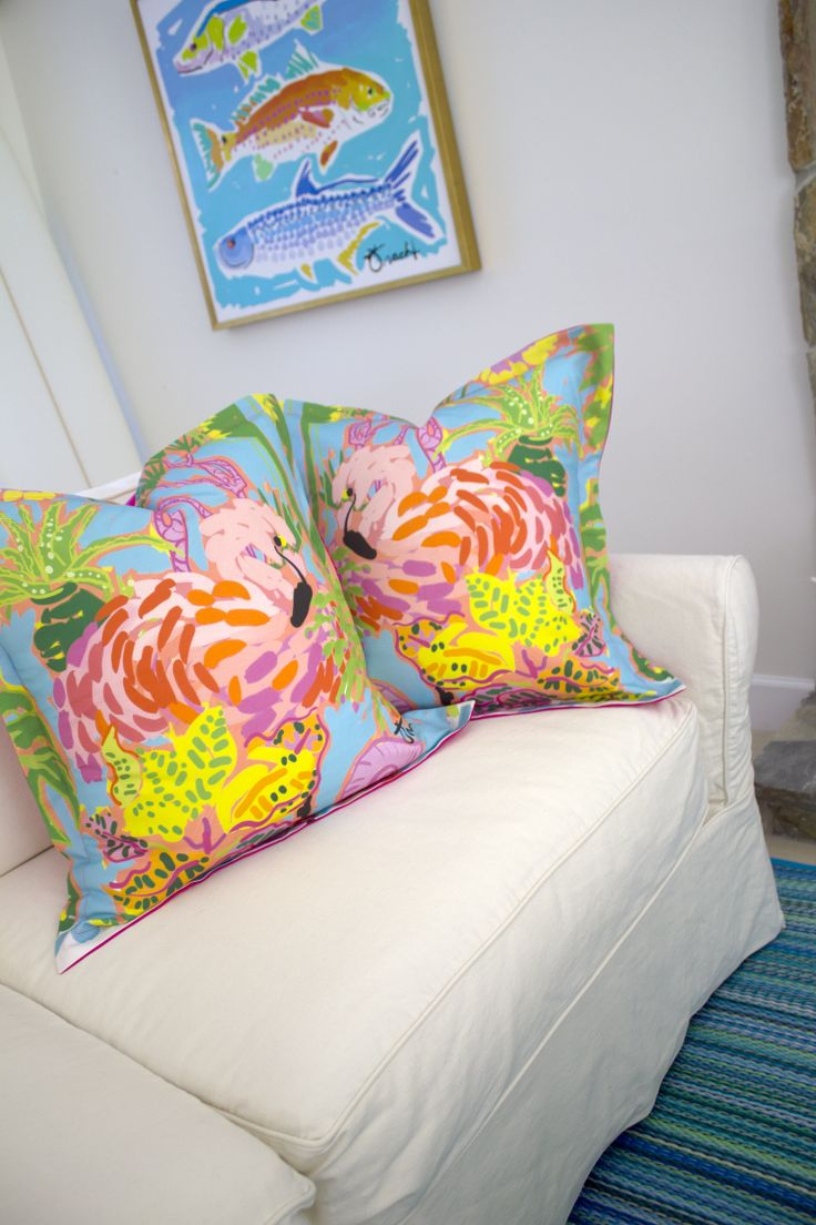 Palm Beach Style Pillows : Kelly Tracht: