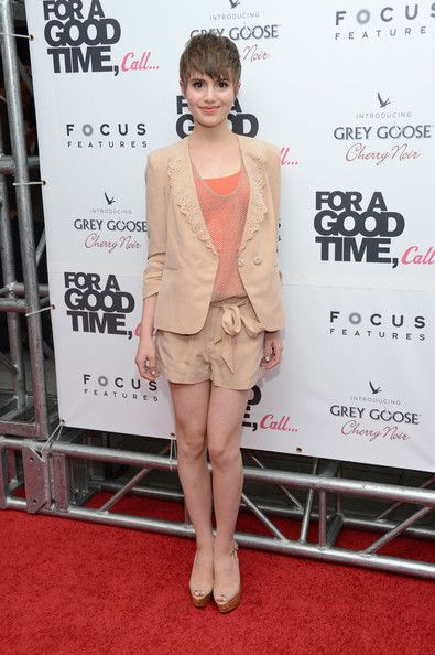 Sami Gayle Clothes  Sami Gayle Short Shorts  A vestige of old-world romance, Sami's creamy beige shorts made her look like a demure darling.  Sami Gayle Blazer  Laser-cut, scalloped lapels added a charming vintage touch to Sami's sweet blazer.