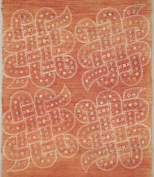 紐結び文布(部分)〈ひもむすびもんぬの〉  芹沢銈介 紬、型染 昭和時代〔日本〕 1946年  69.0 x 191.0 cm No.23639