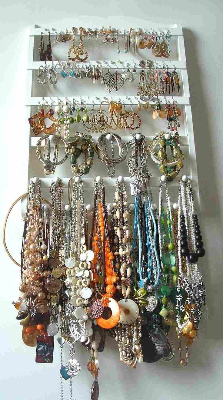 Jewelry Holder Combo Organizer White