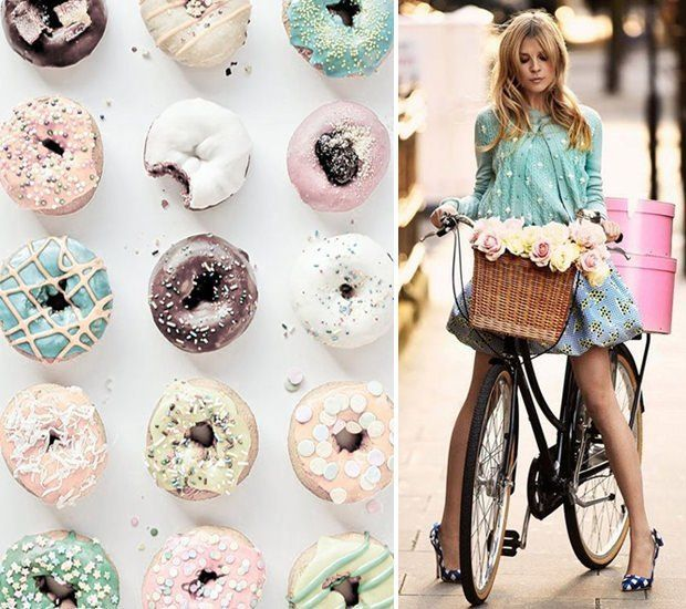 post 73 - Sweets and Outfits / Delicious match - creative combinations between desserts and fashion    #fashion #desserts #sweets #outfits #delicious #combination #style #creative #bicycle #donuts #colourful #pink #mint #roses