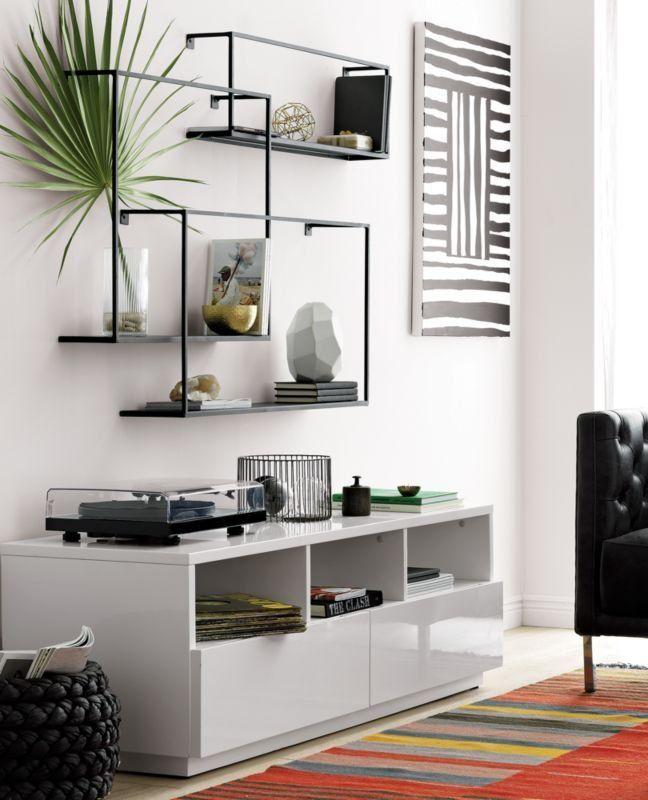 3 Piece Large Matte Black Floating Shelves Reviews Black