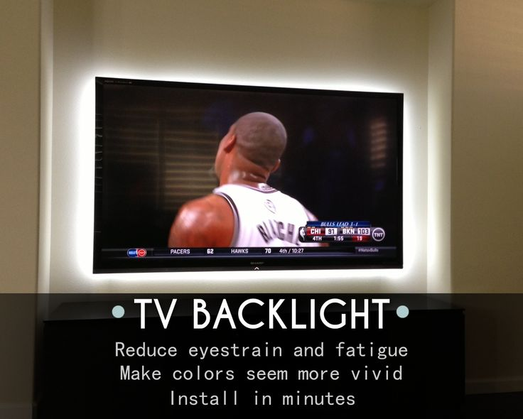 Is your TV in the best shape possible for football season?- TV Backlight Kit from Inspired LED reduces eye strain, provides better picture, and is incredibly easy to install #lighting #mancave
