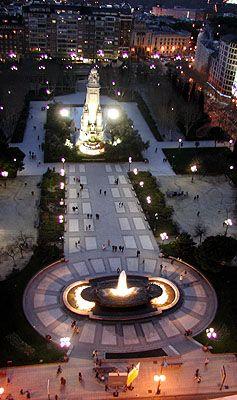 """Plaza de Espana at Night"" -  Madrid, Spain by jaebirdypie"