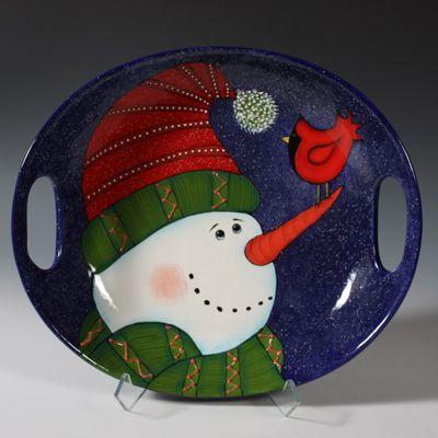 Everyone loves Snowmen - Holiday \u0026 Seasonal - Mayco Handled Platter & 89 best CERAMIC PROJECTS - HOLIDAY \u0026 SEASONAL images on Pinterest ...