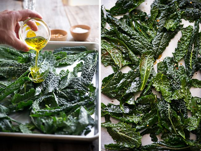 KALE CHIPS!! taste just as good as chips, but packed with more nutrients!