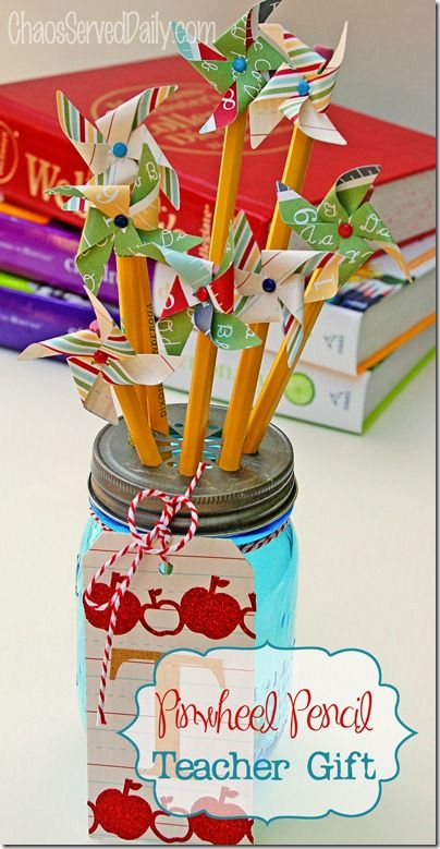 Pinwheel Pencil Teacher Gift