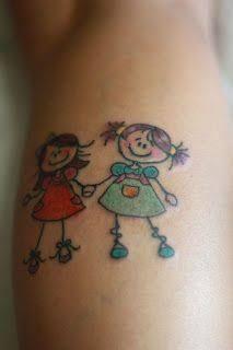 Resultado de imagem para tattoo de bonequinha de filha
