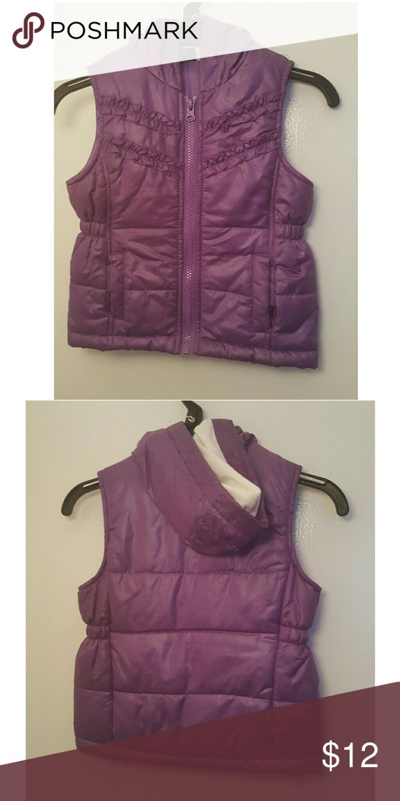 Purple vest Perfect condition worn a few times only. Size 4t Faded Glory Jackets & Coats Vests