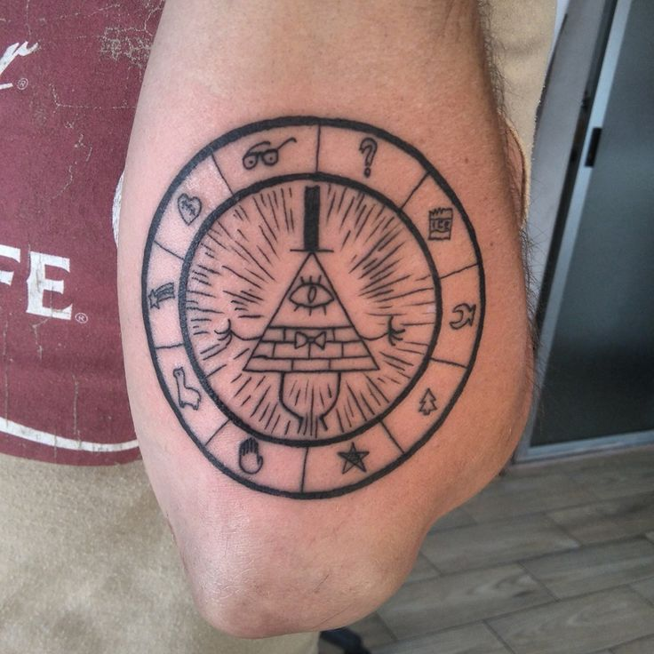 Bill Cipher Tattoo | Gravity Falls