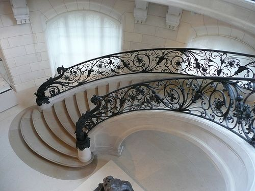 LuxurySpirals Staircases, Art Nouveau, Stairs, Dreams, White, Homes, Black, Stairways, Design