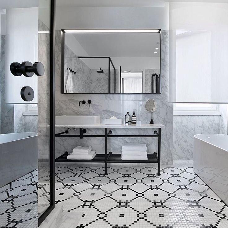 Hotel Adriatic Istria Croatia 3LHD Architects  Photo  Dusko Vlaovic #hoteldesign #designhotel #bathroom #bathroomdesign #hotelbathroom #monochrome #marble #tiling #flooring #tiles #hoteladriatic #Croatia by lucdesign