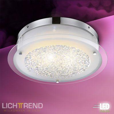 Lieblich Suchergebnis Für Innenleuchten Deckenleuchten LICHT TREND LED Deckenlampe  18 Watt Inkl Glaskristallen Bei Licht+Design Skapetze