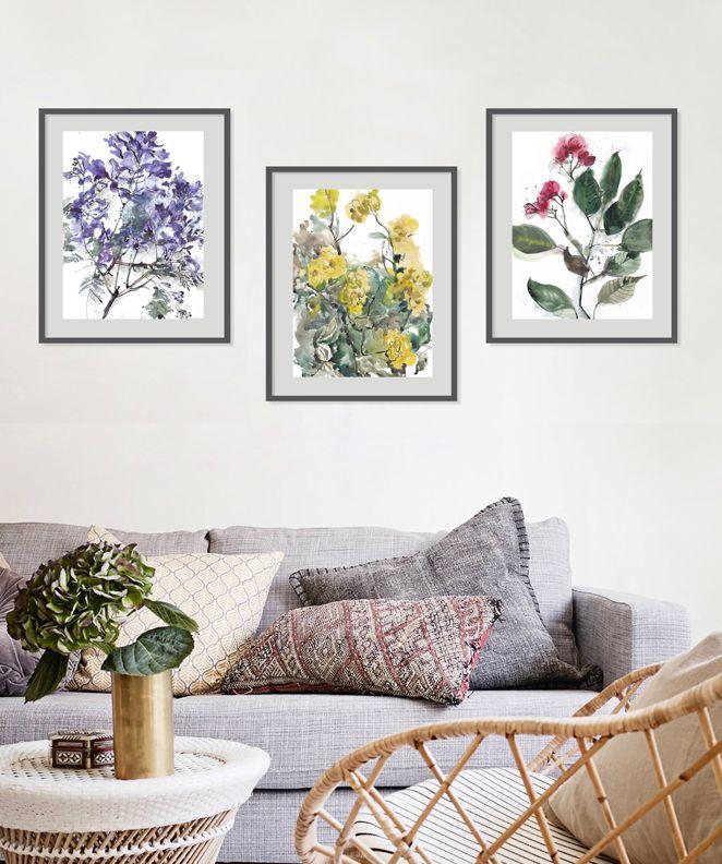 Home decor Botanical Art A3 A4 A5 Harlequim Floral Watercolour Print,walldecor Flower Painting Nature Print Bedroom Wall Art