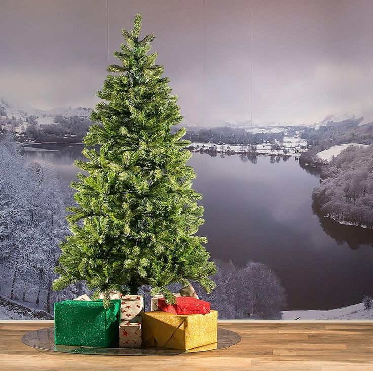6ft Bayberry Spruce Slim Feel-Real Artificial Christmas Tree