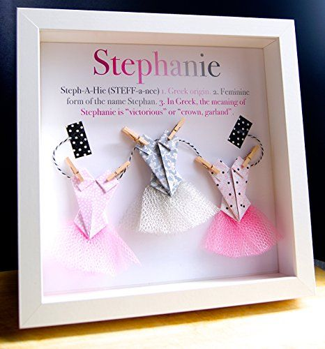 67 best newborn baby shower gifts images on pinterest baby personalized name paper origami shadowbox with ballerina tutus custom newborn baby shower girl gift negle Gallery
