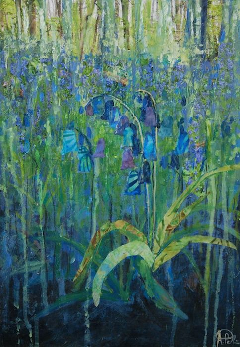Bluebells, mixed media. Anna Perlin