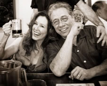 Mary McDonnell with Edward James Olmos...oh, hell who am I kidding...Roslin and Adama.