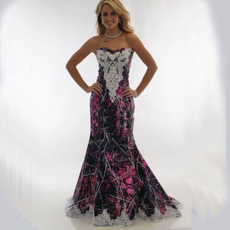 >> Click to Buy << print muddy girl pink camouflage wedding dresses 2017 vestido de noiva mermaid camo wedding dress custom make   free shipping #Affiliate