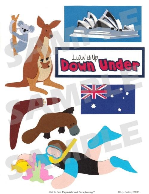 Australia Digital Scrapbook Embellishment. $2.95, via Etsy.