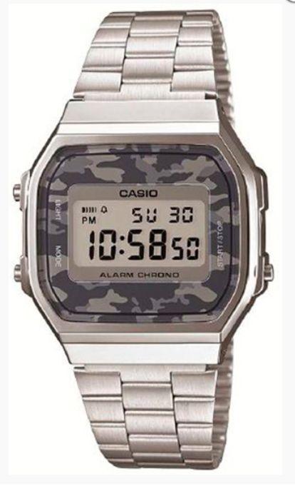 Casio orologio vintage Camouflage (acciaio) A168WEC-1EF Gioielleria Zimarino Via Roma 2 San Salvo (CH)