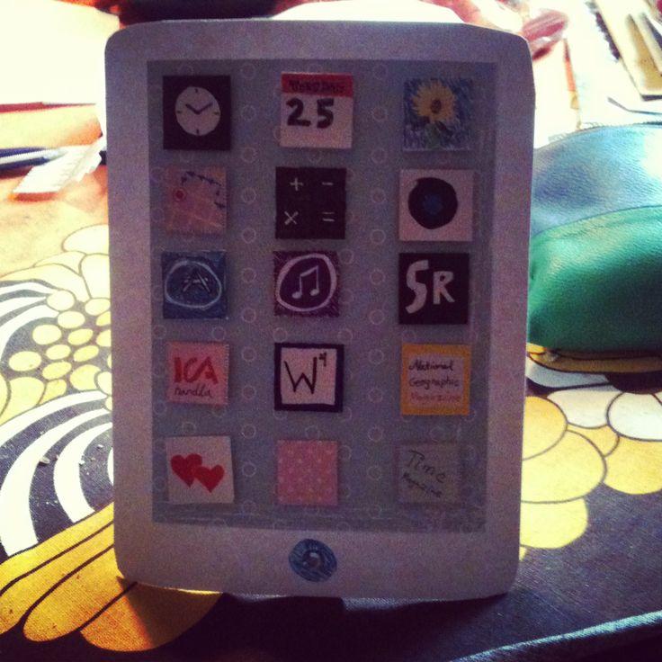 En scrappad pad! Scrapcard Scrapbooking DIY #diy #ipad #apple