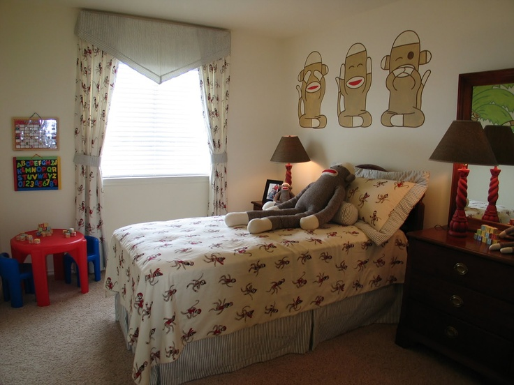 Baby Room Color Schemes Blue And Monkeys