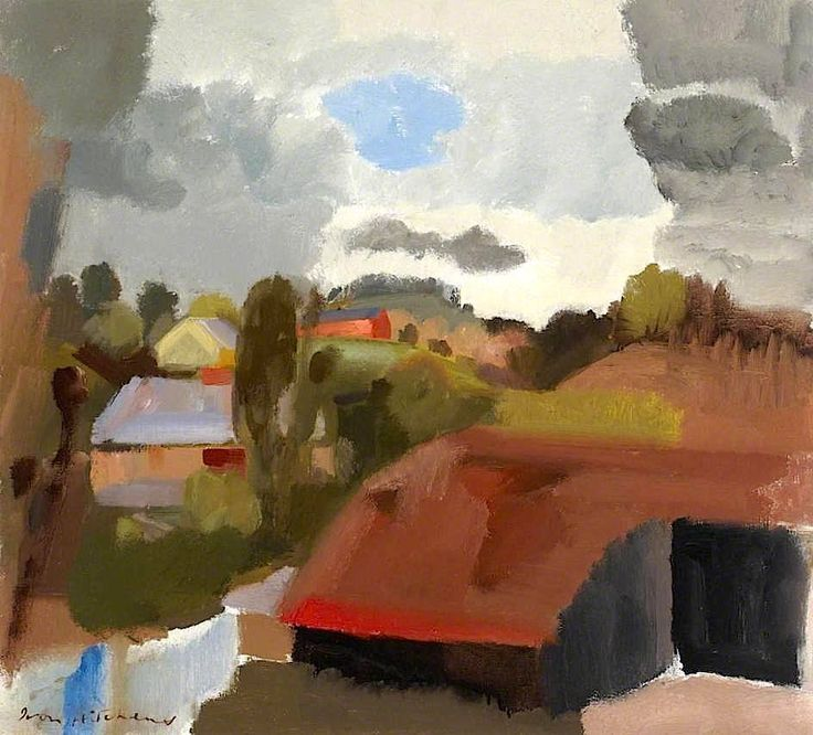 Ivon Hitchens, a Shropshire Landscape, oil on canvas
