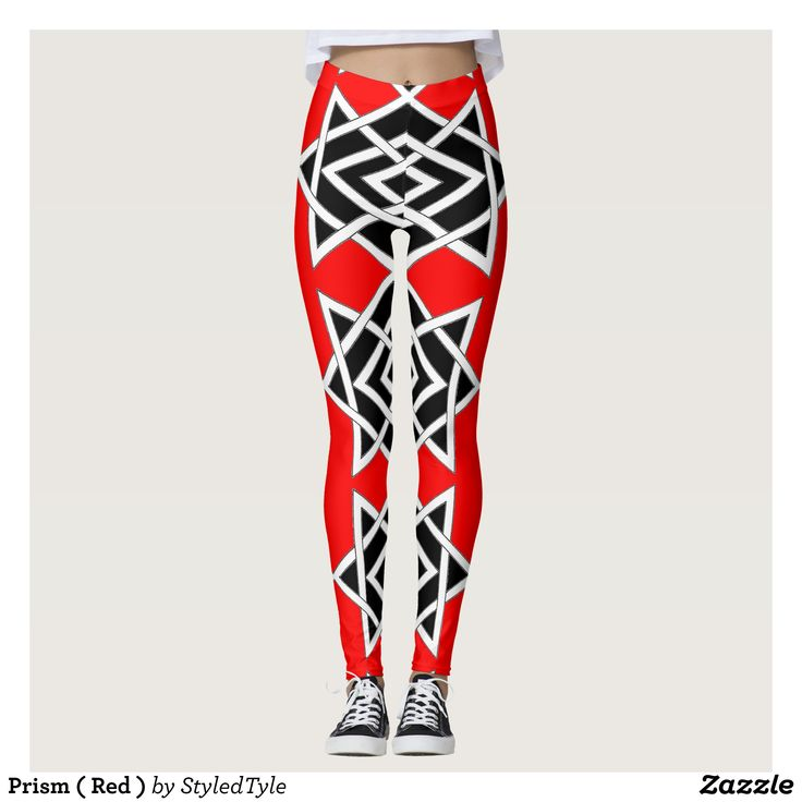 Prism ( Red ) Leggings : Beautiful #Yoga Pants - #Exercise Leggings and #Running Tights - Health and Training Inspiration - Clothing for #Fitspiration and #Fitspo - Strong Female and Female Empowerment Apparel - #Fitness and Gym Inspo - #Motivational Colorful Workout Clothes by Talented Graphic Designers