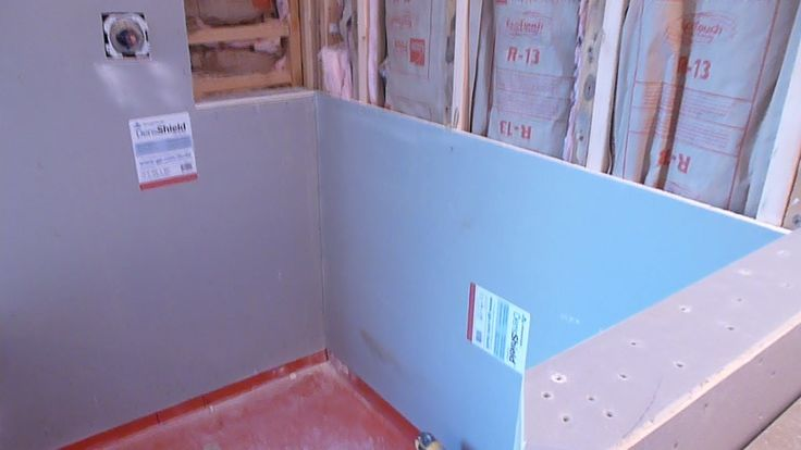How To Install Shower Surround Tile Backer Board Durock Or Cement Board Bathroom Master