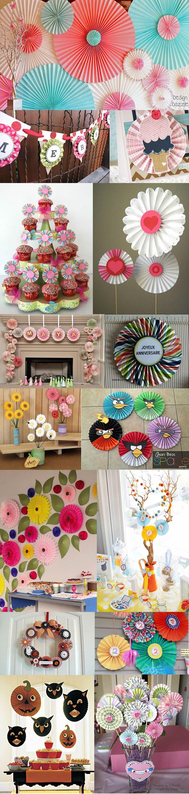 tutorial roseta decorativas de papel decoracion