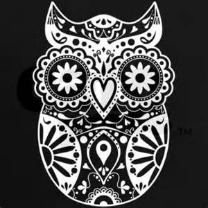 Owl Sugar Skull Coloring Pages