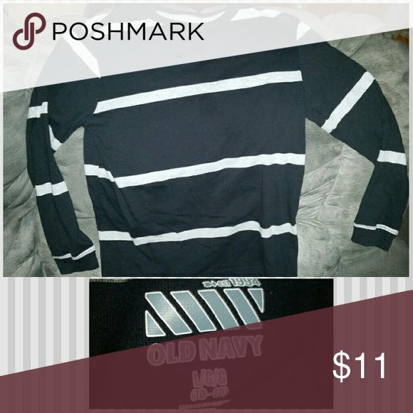 OLD NAVY Boys Striped Shirt Classic style crew neck, long sleeved striped shirt, excellent condition, smoke free home Old Navy Shirts & Tops Tees - Long Sleeve