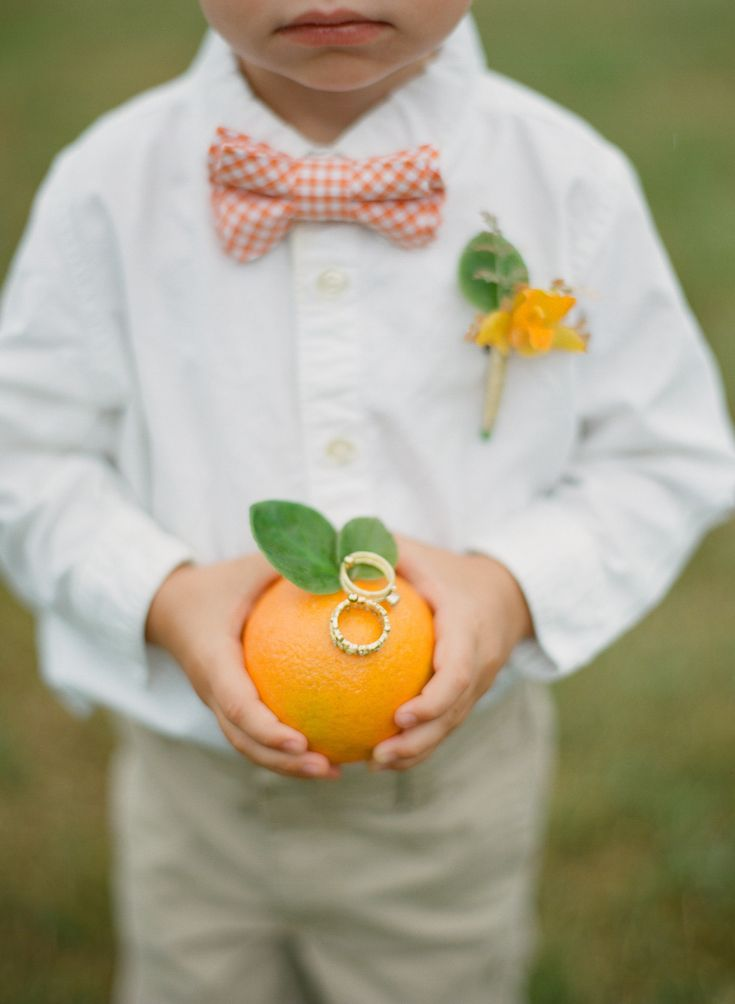 Ring bearer with an orange