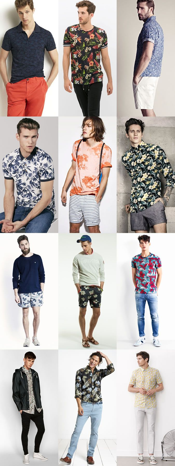Men's 2014 Spring/Summer on How To Wear Florals: The High Summer Outfit Lookbook Inspiration