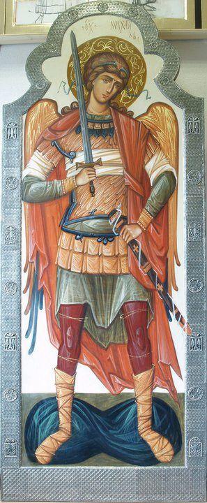 """Αρχάγγ.__ Μιχαηλ _ nov 8 ( Rzhanitsina S.Portfolio """"art de l'église orthodoxe moderne."""