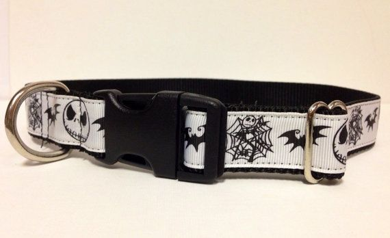 Nightmare Before Christmas Dog Collar by SaintTiger on Etsy ...