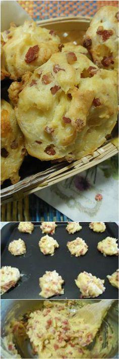 Bignè rustici, perfetti da gustare come antipasto! #bigne #antipasti #ricettegustose