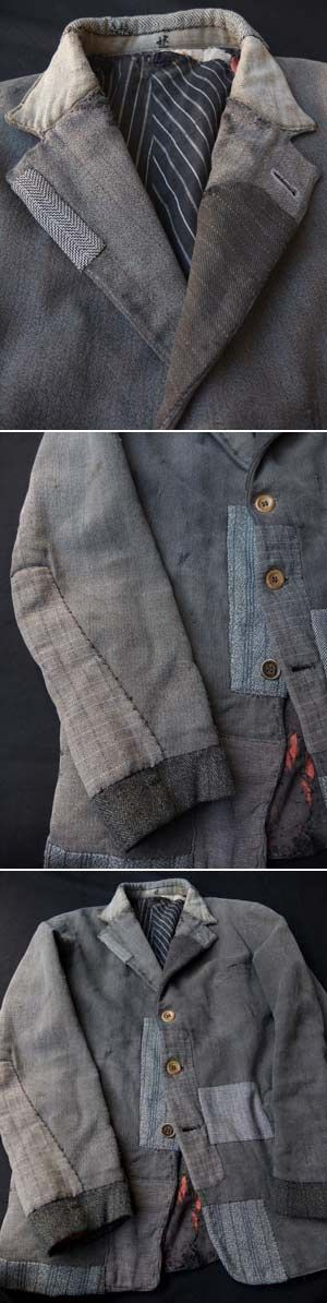 Great use of suit jacket pieces to refashion a men's jacket #recycle