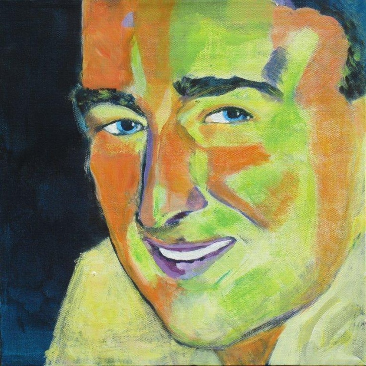 Portrait. April, 2011. 40x40. Acrylics on canvas. Privately owned