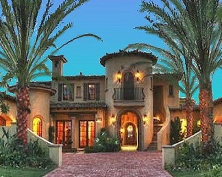 Mediterranean Style House Plan - 4 Beds 4.5 Baths 6755 Sq