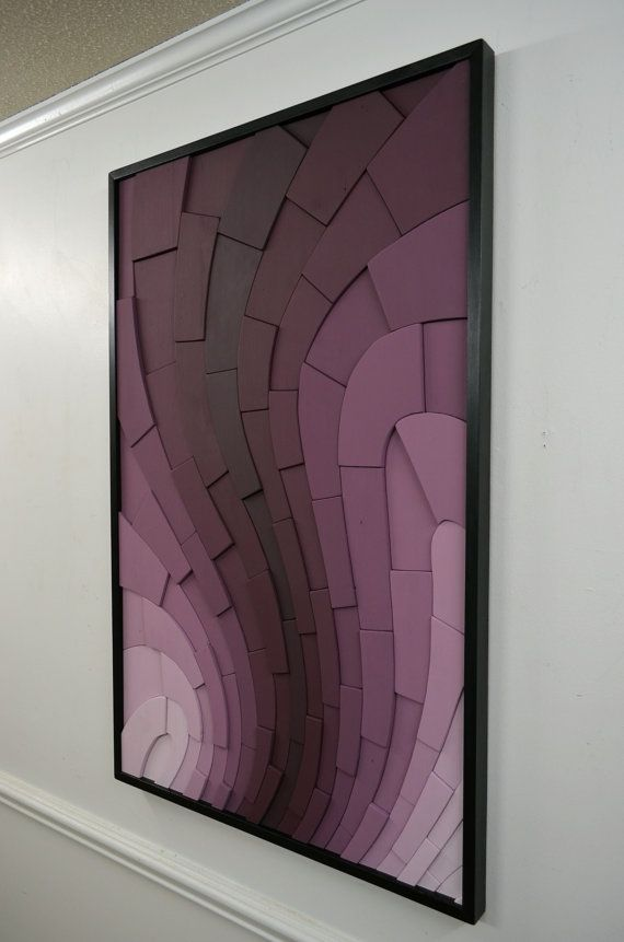 Wood wall art  Blackberry Curve  30x48 wooden