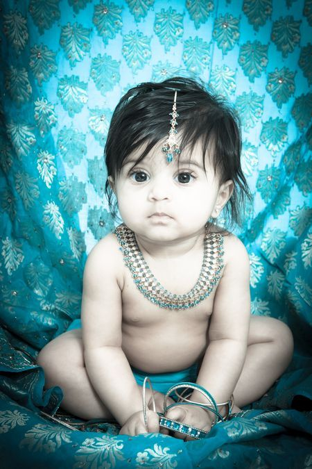 Beautiful Indian Baby Photo by Sabrina Dowdy -- National Geographic Your Shot, professional photography, six moth photo shoot, baby photography, indian professional photography, Milana Patel