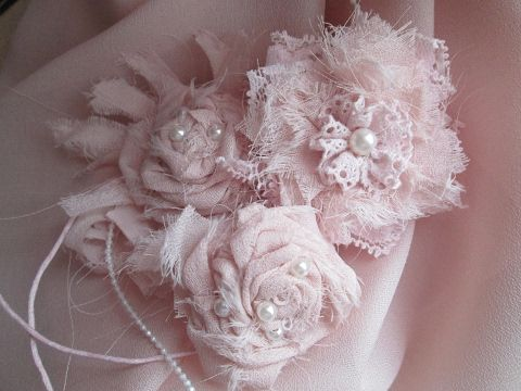 Цветы из ткани и кружева Винтаж  Шебби шик Мастер класс Vintage flowers - YouTube