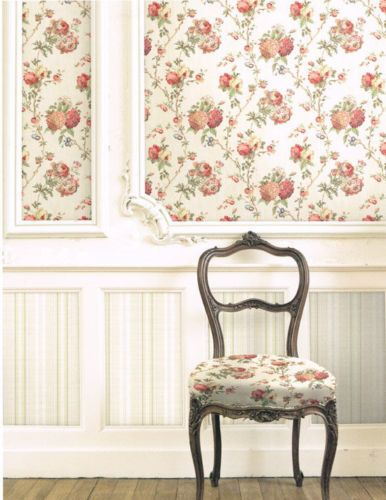 Lively-Floral-on-Linen-Wallpaper