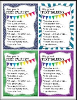Free poster - Are You a Text Talker?