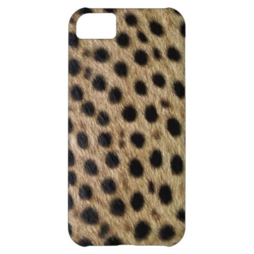 Cheetah Spotted Faux Fur, Wildlife Photo-sample Case For iPhone 5C
