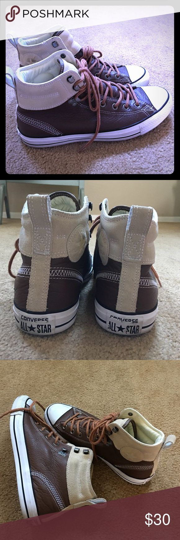 Men's converse all star leather shoes Men's size 8.5 great for dressing up or down. Converse Shoes Sneakers